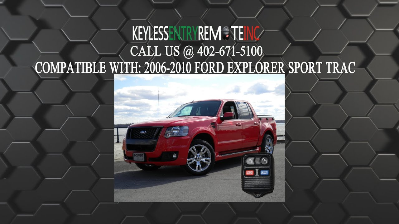 How to replace ford explorer sport trac key fob battery 2006 2007 2008 2009 2010