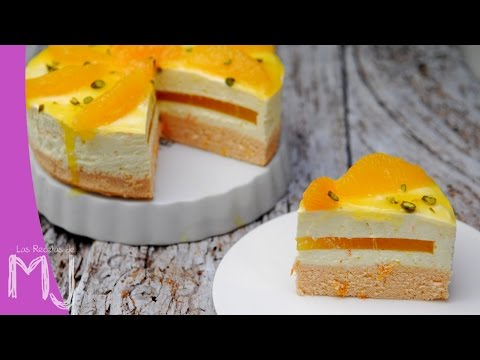 CHEESECAKE DE NARANJA   Tarta de queso sin horno