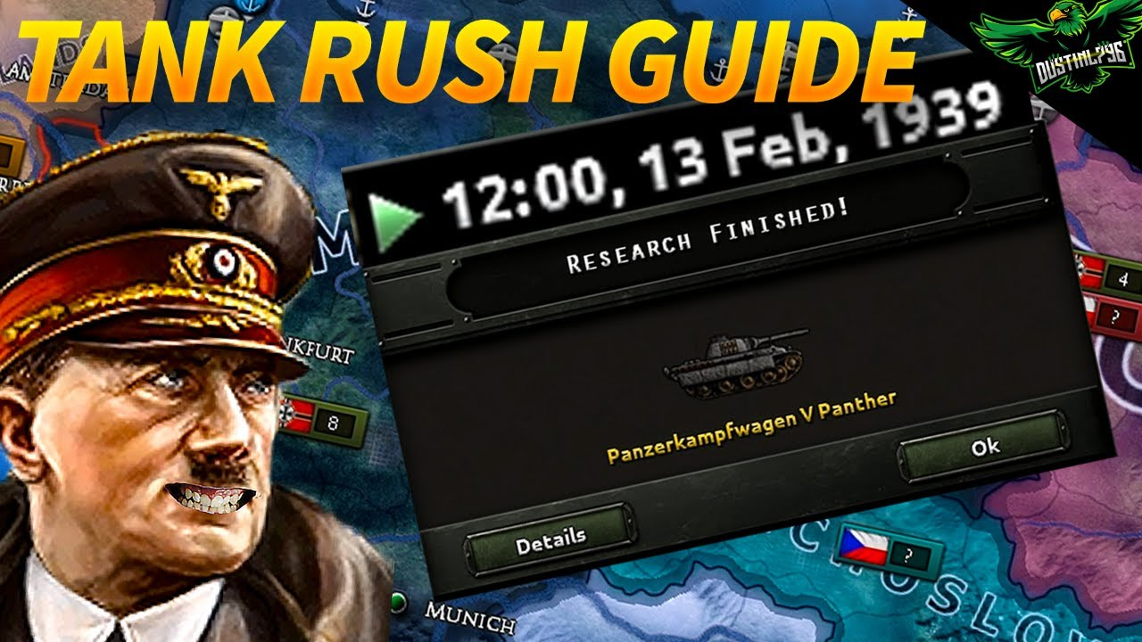HOI4 How to Rush Tank Tech as Germany (25K Subscriber Special) (Hearts of  iron 4 Tutorial Guide)