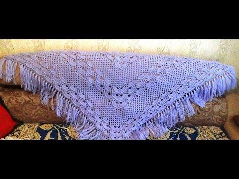 Узор для шали крючком.Исправленный!/pattern for shawls