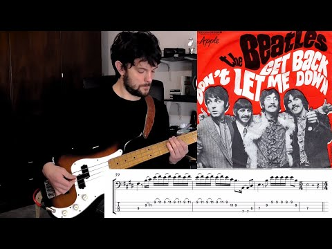 The Beatles - Don't Let Me Down | Bass Play (Isolated Bass Track)