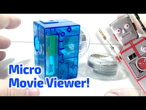 2005 MICRO MOVIE VIEWER With Superman Cartoon! Working Miniature By Fascinations