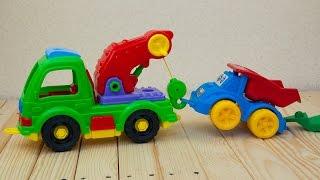 Машинки мультфильм - Мир машинок - 107 серия:  Самосвал, эвакуатор.  Развивающий мультик для детей.(, 2016-07-08T22:42:03.000Z)