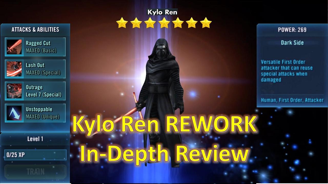 Star Wars Galaxy of Heroes: Kylo Ren REWORK In-Depth Review