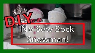 VLOGMAS DAY 4: DIY NO SEW SOCK SNOWMAN!