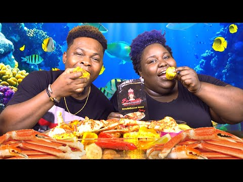 SEAFOOD, BLOVE'S NEW SMACKALICIOUS SAUCE, CHIT CHAT | MUKBANG| H & E LIFE