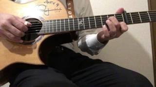ソロギターのしらべの「いつも何度でも」の弾き方解説です。 タブ譜と模...