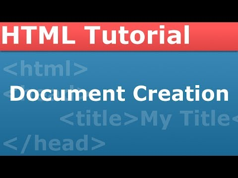 PROgramming With The Pro - HTML Part 1 - Creating Our Document And Using HTML5
