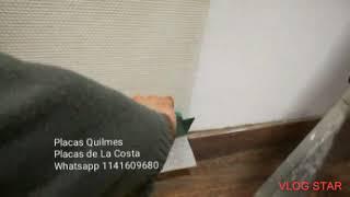 Tela de Fibra de Vidrio como se instala? Empareja pared aislante humedad