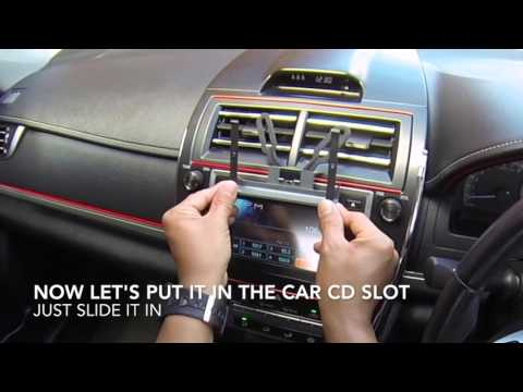 D.I.Y CD Slot Car Mount For Iphone and Smartphone Holder