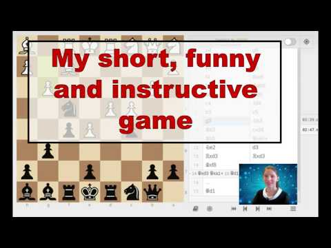 My short, funny and instructive game. Chess960.