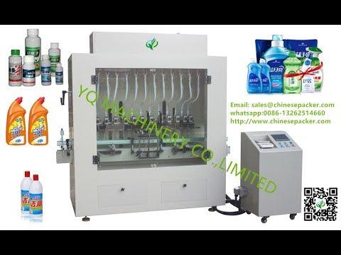 Linear bleach filling machine screw tightening machine Toilet cleaner Hydrogen peroxide filler