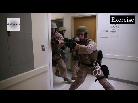 Marine Corps, Building Raid - Active Shooter Exercises at Hospital