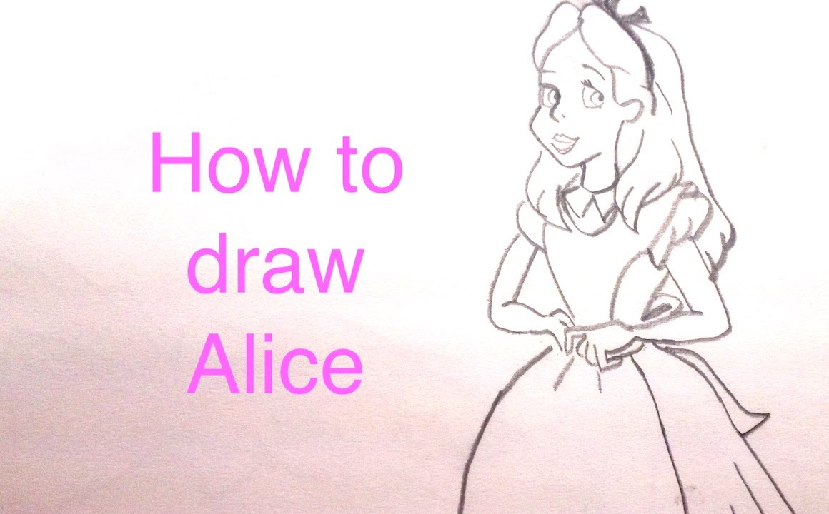 how to draw the rabbit from alice in wonderland