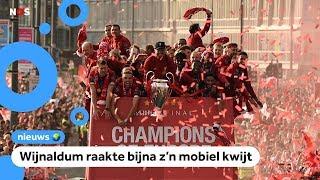 Liverpool-voetballers feesten tijdens huldiging Champions League