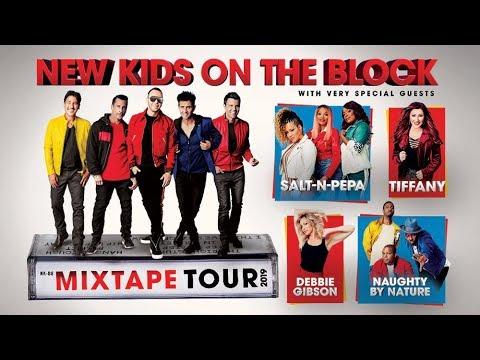 New Kids On The Block - Live Concert at Fiserv Forum, Milwaukee, WI, Mixtape Tour 2019