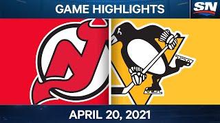 NHL Game Highlights   Devils vs. Penguins - Apr. 20, 2021