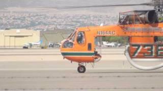 S-64E Skycrane departure at the North Las Vegas Airport.