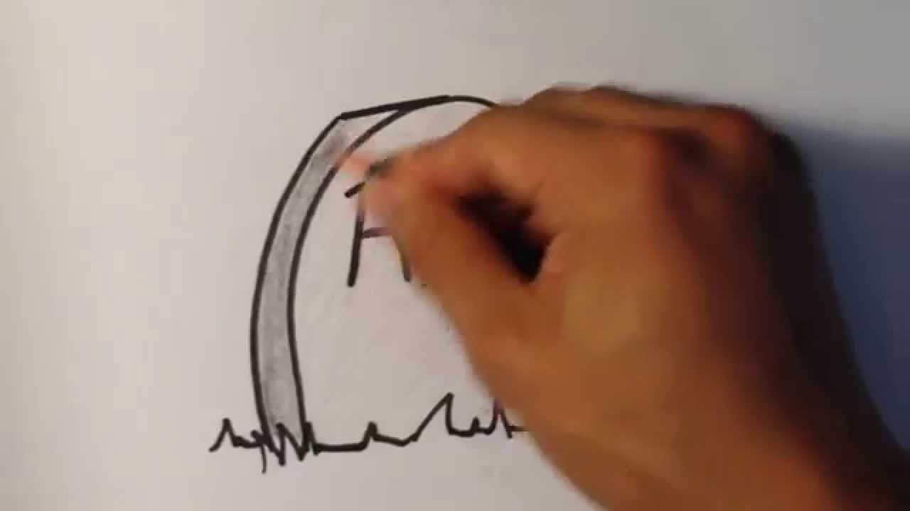 How to Draw a GRAVE - Halloween Drawings - YouTube