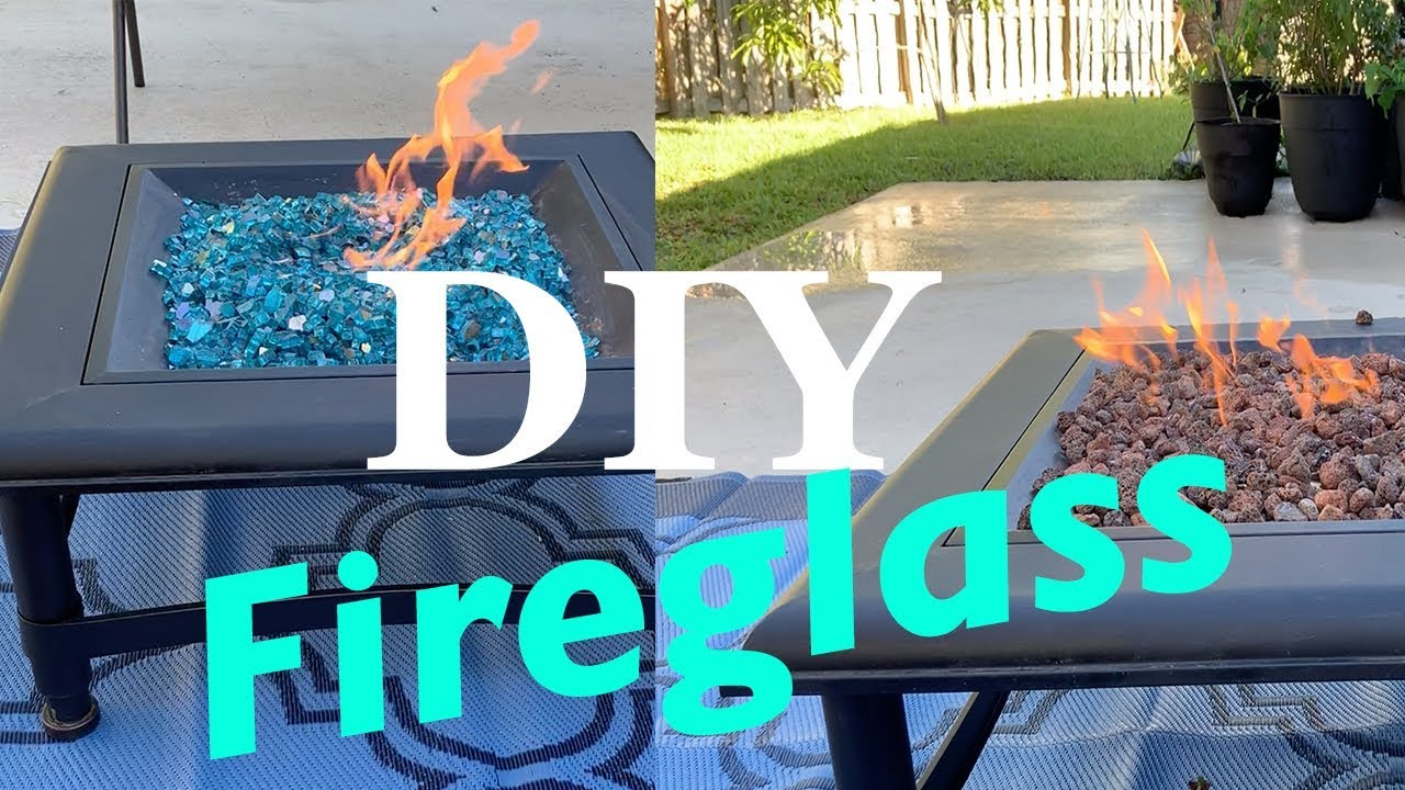 How To Put Fire Glass In A Fire Pit Diy Highly Reflective Caribbean Blue Glass Youtube