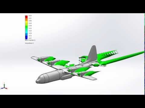 Blended Body Stealth Military Cargo Aircraft Design - Mach Number Simulation