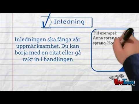 Skriva novell (Svenska, Grundskolan)