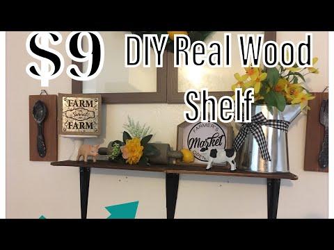 DIY Real Wood Shelf