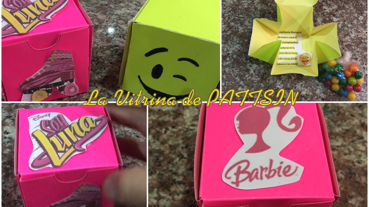 Tarjeta De Invitacion Facil O Caja De Regalo Emoji Soy Luna Barbie