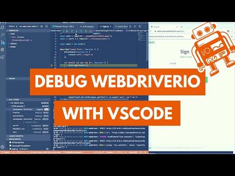 Debugging WebdriverIO Tests In VSCode