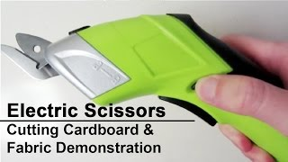 Simplicity Electric Scissors Unboxing + Demo - How to Cut Cardboard - Fabric Cutter