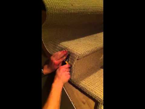 Wrapping Stairs With Carpet   YouTube