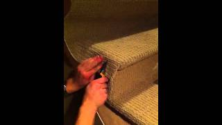 Wrapping stairs with carpet