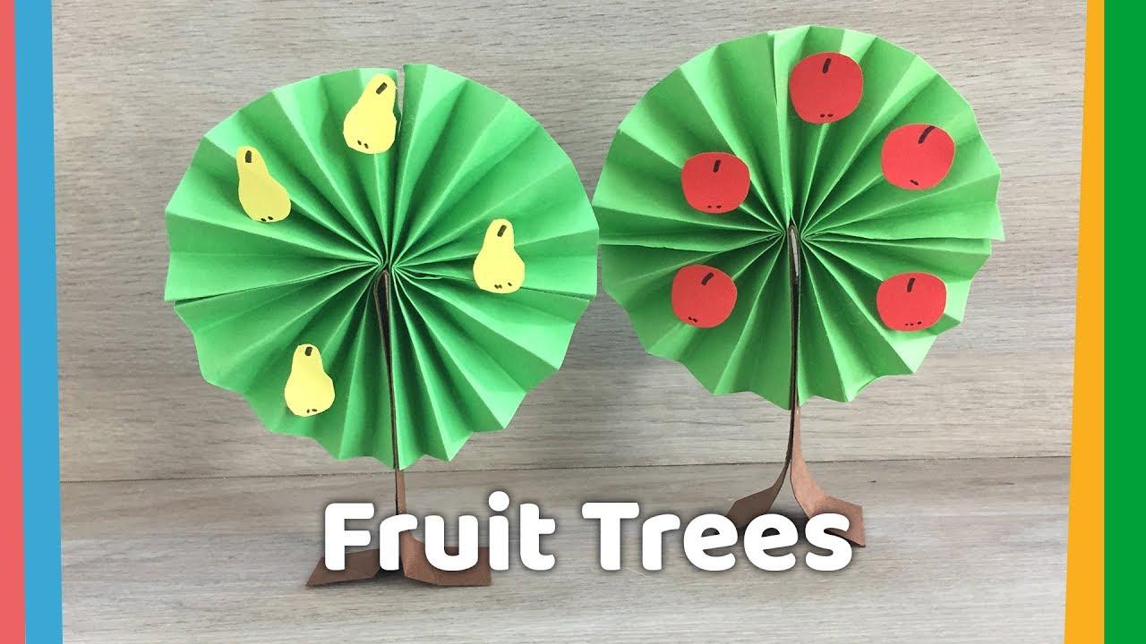 how to make simple paper tree diy season crafts for kids youtube. Black Bedroom Furniture Sets. Home Design Ideas