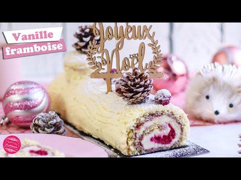 🎅-buche-de-noel-roulÉe-vanille-framboise---facile-🎅