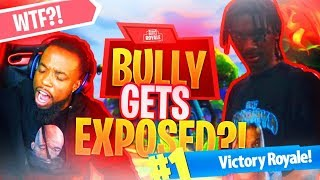 FORTNITE ONLINE BULLY GETS EXPOSED LIVE! Fortnite Battle Royale Funny Moments