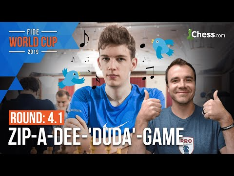 Duda Sacs (Blunders!?) Exchange vs Xiong: 2019 FIDE Chess World Cup Round 4.1