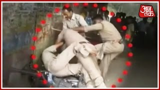 Lucknow Police Fight Over Bribe Money