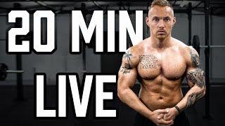 20 Minuten LIVE Ganzkörper Workout zum Mitmachen mit dem eigenen Körpergewicht für Zuhause