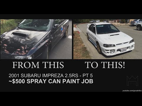 2001 Subaru Impreza 2.5RS GC8 – Pt 5 ~$500 Spray Can Paint Job