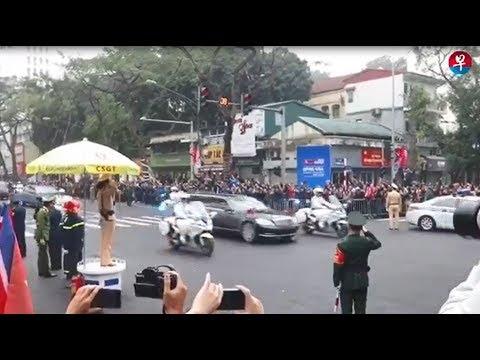 朝鲜领袖金正恩抵达越南美利亚酒店