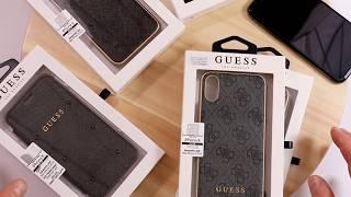 4 custodie originali GUESS per iPhone X XS MAX e XR