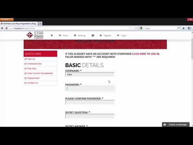 How to register on StarPoker.in - YouTube