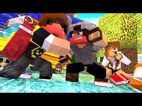 Minecraft: BRIGA NA ESCOLA | BIBI |