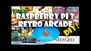 Raspberry Pi 3 Retro Pie DIY Home Arcade Tutorial