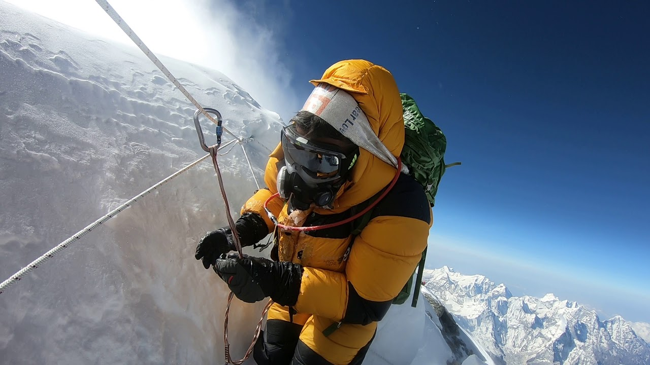 Descending the Ridge of Mount Everest, May 23 2019