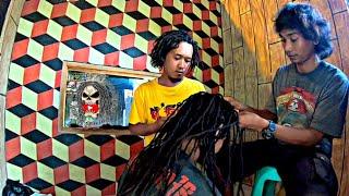 Download lagu Proses Gimbal Rambut Asli panjang 50cm