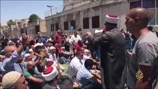 صلاة الجمعة التي أقيمت عند باب الساهرة في القدس