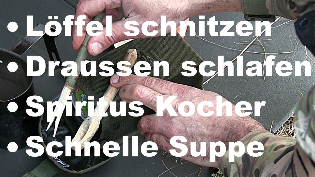 detailed pictures many fashionable vast selection WIE? Löffel schnitzen, Zutaten lagern, Draussen schlafen, 5 Minuten Suppe  kochen | Wanderfalke
