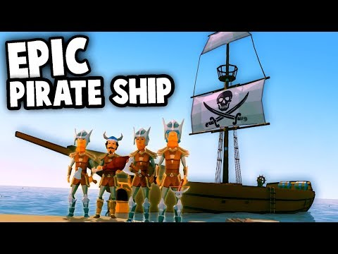 How to BUILD a PIRATE SHIP!  EPIC Adventures & Plunder! (Ylands Multipalyer Gameplay Funny Moments)