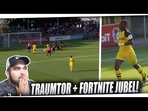 Wunderkind Youssoufa Moukoko Traumtor in der Bundesliga + Fortnite Jubel | PMTV